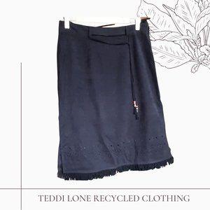 Western Faux Suede Skirt
